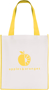Printed shopper bag with coloured trims Yellow