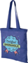 Royal Blue reusable shopper bag with blue handles and large print to the front