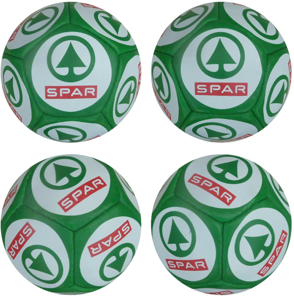 Mini Football size 0 with SPAR logo printed on every panel