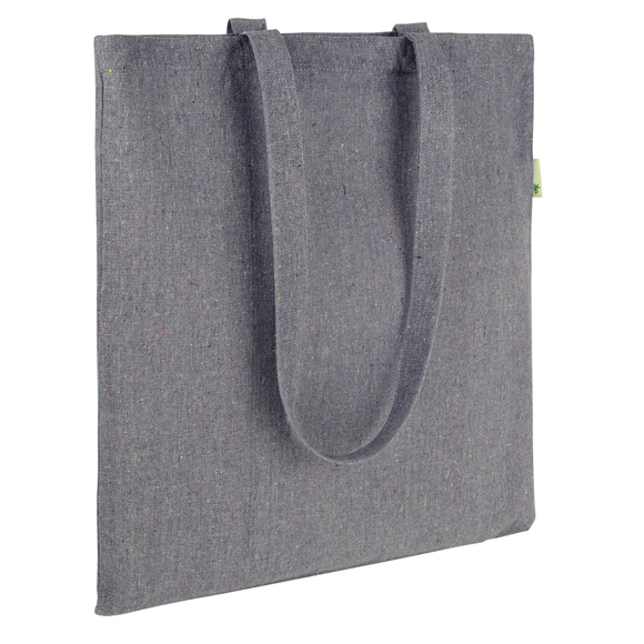 shopper tote bag made from recycled cotton and plastic bottles