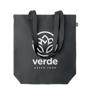 hemp shopping bag in black