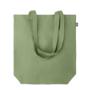 shopper tote made from hemp in green