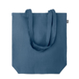 shopping bag made from hemp in navy
