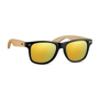 mirror lens sunglasses with bamboo arms