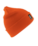Heavyweight Thinsulate Hat in orange with knitted double thickness