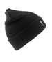 Heavyweight Thinsulate Hat in black with knitted double thickness