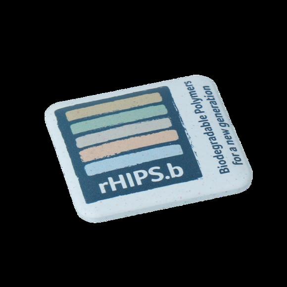 biodegradable pink badge