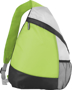 Armada Sling Backpack in green, grey and black