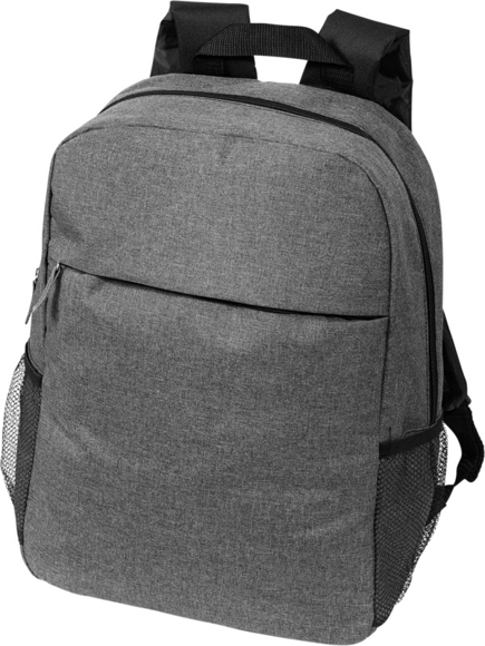 """Heathered 15"""" Laptop Backpack in grey"""
