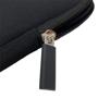 soft fabric laptop sleeve with zip-  zip closure.