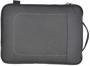 Dark grey laptop bag with subtle stitching