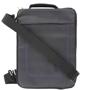 Dark grey laptop bag with shoulder strap.