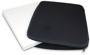 Black zip-up laptop case opened