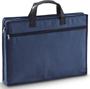 Blue zip up document case