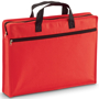 Red zip up document case